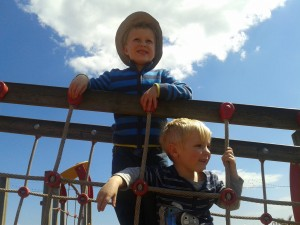 My boys playing at Teignmouth park